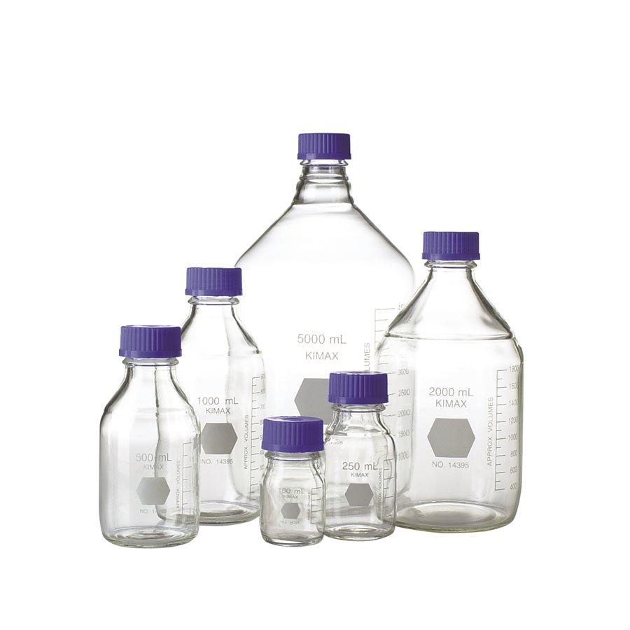 Butelki laboratoryjne z zakrętką - Kimax