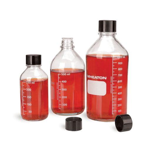 Butelki laboratoryjne z zakrętką i septą - Wheaton