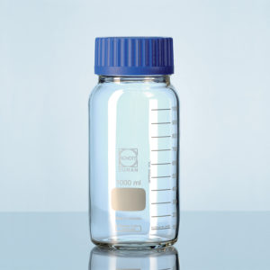 Butelki laboratoryjne ze szkła Duran z szeroką szyją