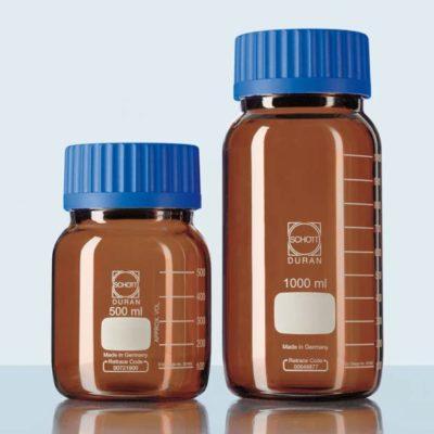 Butelki laboratoryjne ze szkła Duran z szeroką szyją - oranżowe - Schott-2