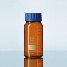 Butelki laboratoryjne ze szkła Duran z szeroką szyją - oranżowe - Schott
