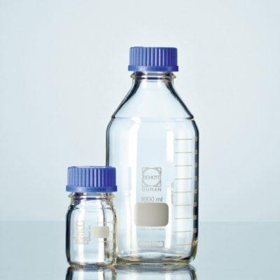 Butelki laboratoryjne ze szkła Duran z zakrętką - Schott