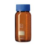 Butelki laboratoryjne ze szkła Duran z szeroką szyją - oranżowe - o poj. 250 ml - 20 l - b-0320 - butelka-laboratoryjna-ze-szkla-duran-z-szeroka-szyja-oranzowa - 250-ml - 105-x-95-mm - gls-80 - 1-szt