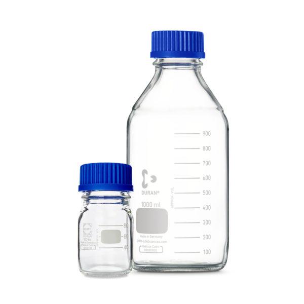 Butelki laboratoryjne ze szkła Duran z zakrętką - o poj. 10 ml - 20 l