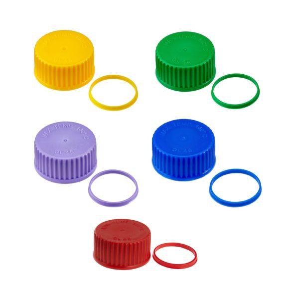Kolorowe zakrętki i pierścienie wylewowe z PP