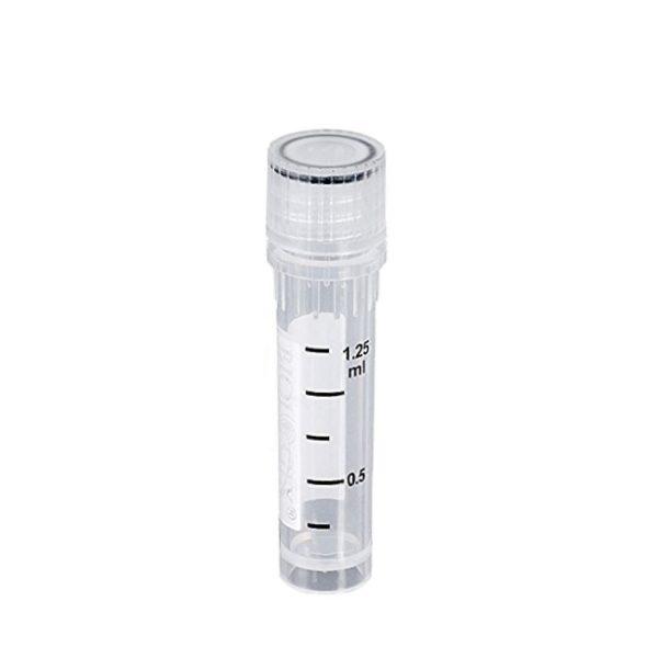 Krioprobówki z PP z zakrętką z gwintem zewnętrznym i uszczelką - sterylne - poj. 2,0 ml - B-0388