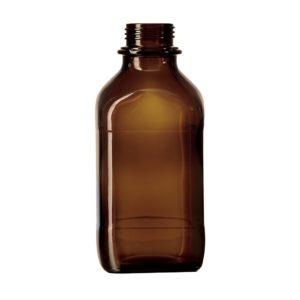Kwadratowe butelki laboratoryjne - oranżowe - bez zakrętek - Schott