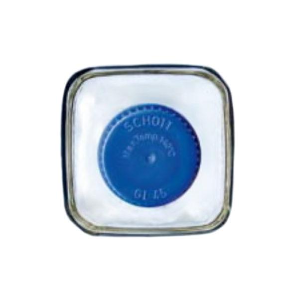 Kwadratowe butelki laboratoryjne ze szkła Duran z zakrętką - o poj. 100 ml - 1 l