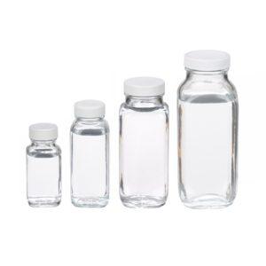 Kwadratowe butelki z zakrętką i septą - Wheaton