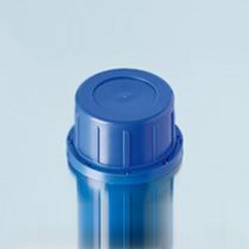 Zakrętki z PP z pierścieniem plombującym – niebieskie