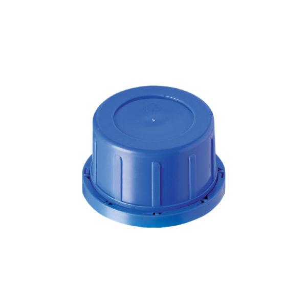 Zakrętki z PP z pierścieniem plombującym - niebieskie
