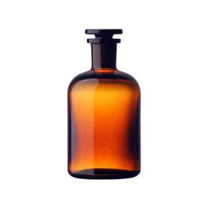 Butelki szklane ze szlifem i korkiem – oranżowe – z wąską szyją – o poj. 60 ml – 5 l