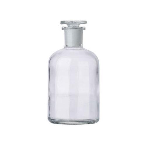Butelka szklana ze szlifem i korkiem - z wąską szyją