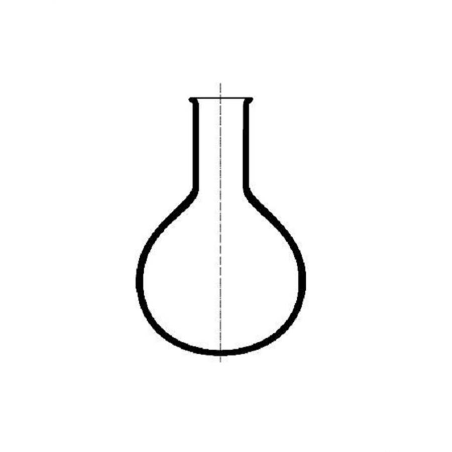 Kolba okrągłodenna mikro