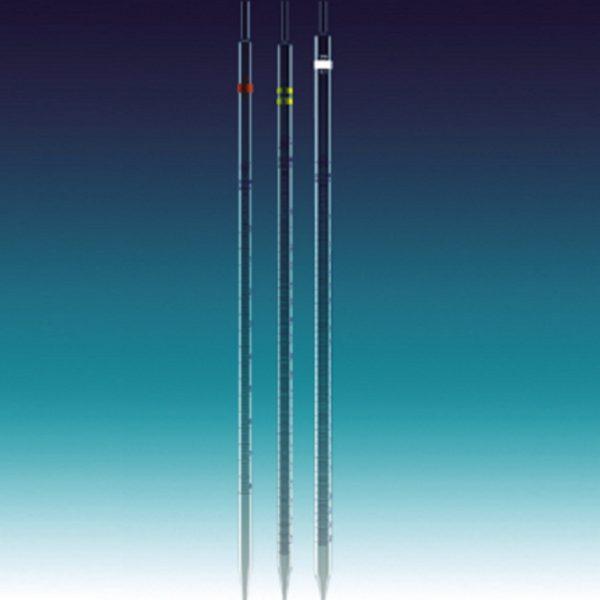 Pipety wielomiarowe kl. AS, z niebieską skalą