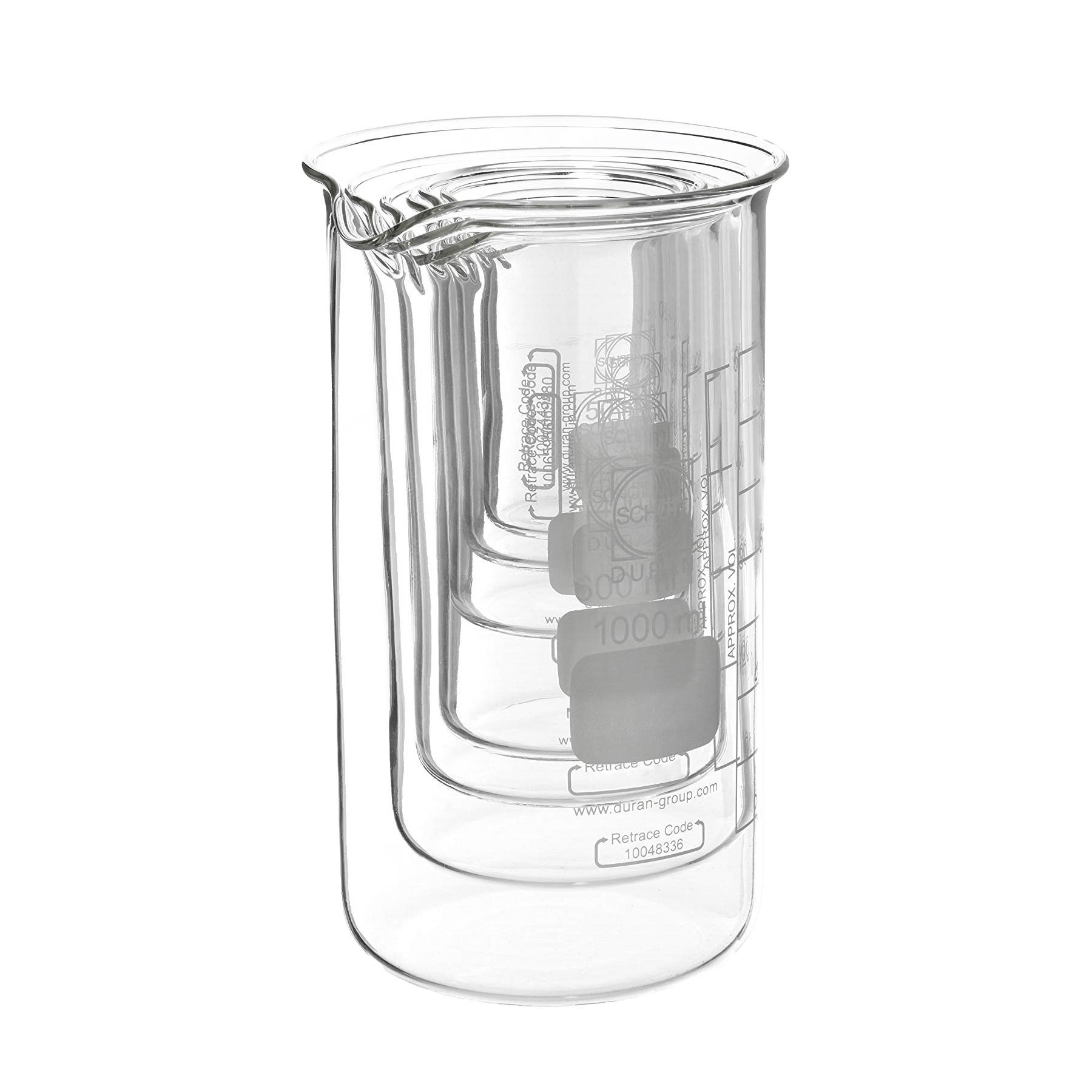 Zestaw zlewek laboratoryjnych ze szkła Duran - wysokich - 1
