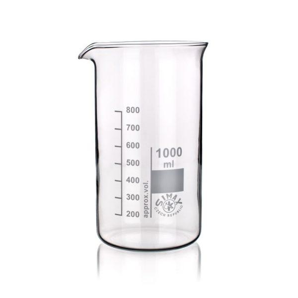 Zlewki laboratoryjne - wysokie - Simax