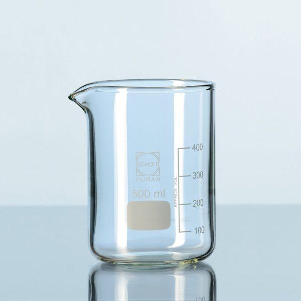 Zlewki laboratoryjne ze szkła Duran - gruba ścianka - niskie - Schott