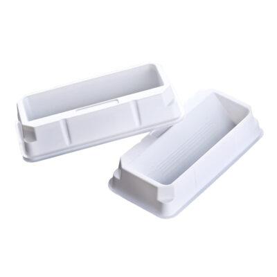 Białe zbiorniki na odczynniki - sterylne