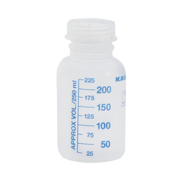 Butelka zakręcana z szeroką szyjką (PP), z podziałką 250 ml