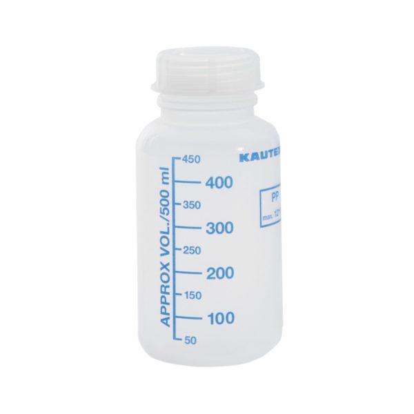 Butelka zakręcana z szeroką szyjką (PP), z podziałką 500 ml