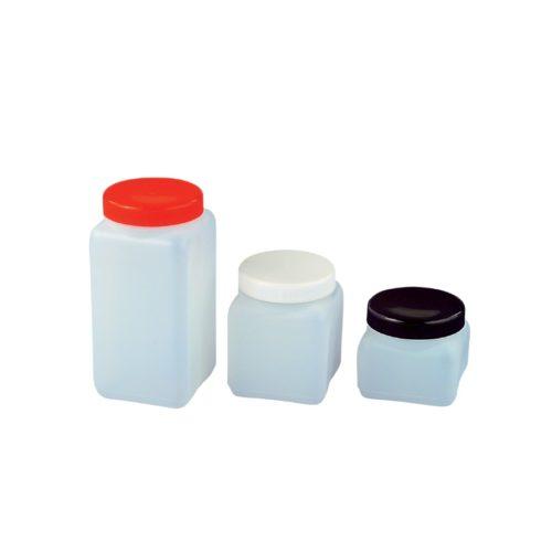 Butelki czworokątne z HDPE z szeroką szyjką