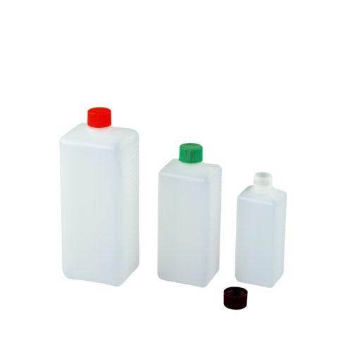 Butelki czworokątne z HDPE z wąską szyjką