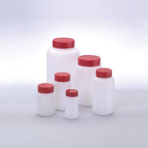 Butelki z HDPE z szeroką szyją - sterylne