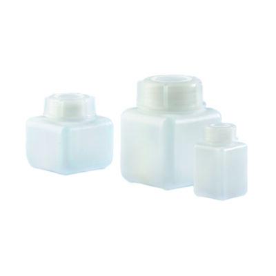 Butle z tworzywa HDPE, kwadratowe z nakrętkami - o poj. 100 ml - 1 l