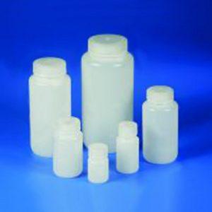 Butle z tworzywa HDPE z nakrętką - szeroka szyjka