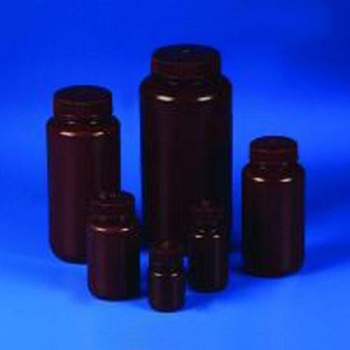 Butle z tworzywa HDPE z nakrętką - szeroka szyjka - kolor brązowy