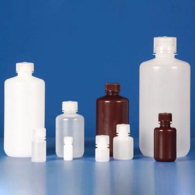 Butle z tworzywa HDPE z nakrętką - wąska szyjka - o poj. 4 ml - 1 l