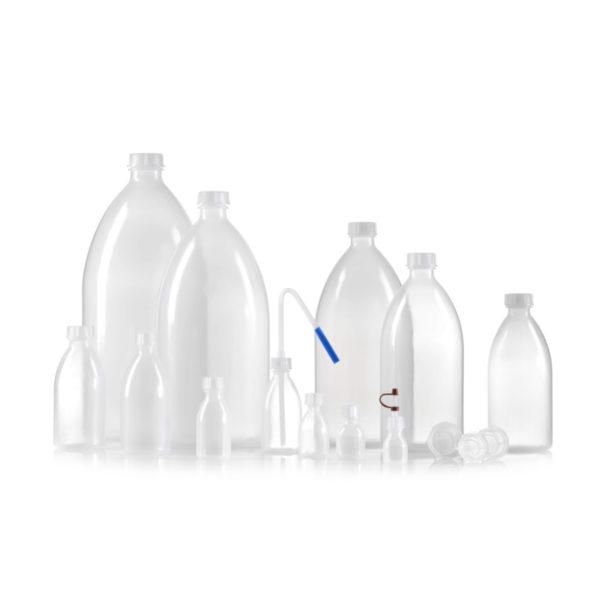 Butle z tworzywa LDPE - wąska szyjka - o poj. 10 ml - 5 l