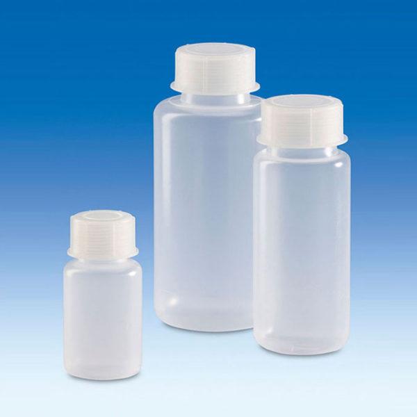 Butle z tworzywa LDPE z nakrętką z tworzywa PP - szeroka szyjka - Vitlab
