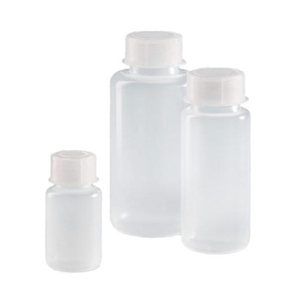 Butle z tworzywa LDPE z nakrętką z tworzywa PP - szeroka szyjka - o poj. 50 ml - 1 l - Vitlab