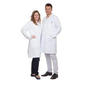 Fartuch laboratoryjny, długość 1 1, z bawełny