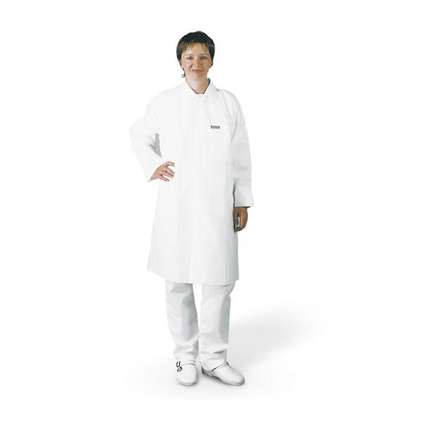 Fartuchy do pracy w pomieszczeniach czystych, PP, białe