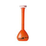 Kolby miarowe z PMP z korkami, oranżowe - klasa A - Vitlab - n-0154 - kolby-miarowe-z-pmp-klasa-a-oranzowe-z-korkami - 10-ml - 004-ml - 90-mm - 1019 - 2-szt
