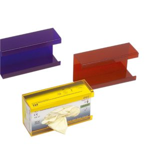 Kolorowe pojemniki na rękawiczki