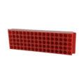 Kolorowe statywy Top-Rack, 80-miejscowe - neoLab - 2-2562 - statyw-top-rack-80-miejscowy - czerwony