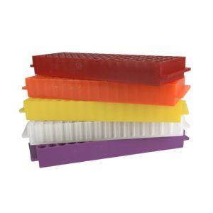 Kolorowe statywy Top-Rack, 80-miejscowe - neoLab2
