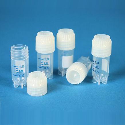 Krioprobówki z gwintem zewnętrznym - samostojące - sterylne - poj. 1,2 ml - 5 ml