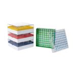 Kriopudełka na probówki, 81-stanowiskowe, wys. 52 mm (PC) - a-733062 - kriopudelko-z-pc - niebieski - 52-mm - 1-szt