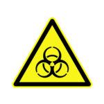 Naklejka ostrzegawcza Biohazard (zagrożenie biologiczne) - l-0160 - naklejka-ostrzegawcza-biohazard-wym-100-x-88-mm