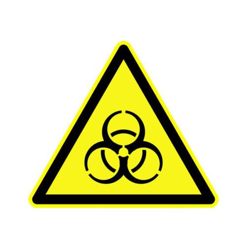 Naklejka ostrzegawcza Biohazard (zagrożenie biologiczne)