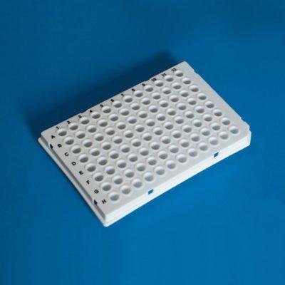 Płytki do PCR, 96-dołkowe, semi-skirted, niski profil, białe