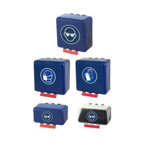 Pojemniki do przechowywania okularów, masek i rękawic ochronnych
