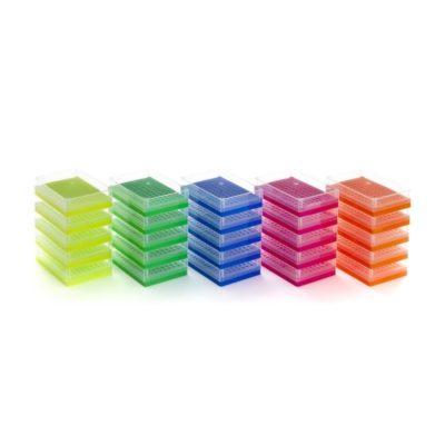 Pudełka 96-miejscowe na probówki PCR - 5 szt. - 1