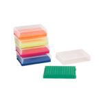Pudełka 96-miejscowe na probówki PCR pojedyncze lub w paskach - 2-2600 - pudelko-96-miejscowe-na-probowki-pcr - zolte