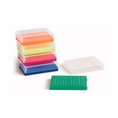 Pudełka 96-miejscowe na probówki PCR pojedyncze lub w paskach